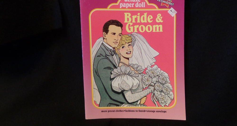 Modern Uncut Paper Dolls Bride & Groom  Pub. Western Pub. Co. 1990 ALMOST MINT