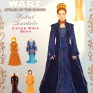 Uncut Star Wars Attack of the Clones Padme Amidala Paper Dolls 2002 Mint