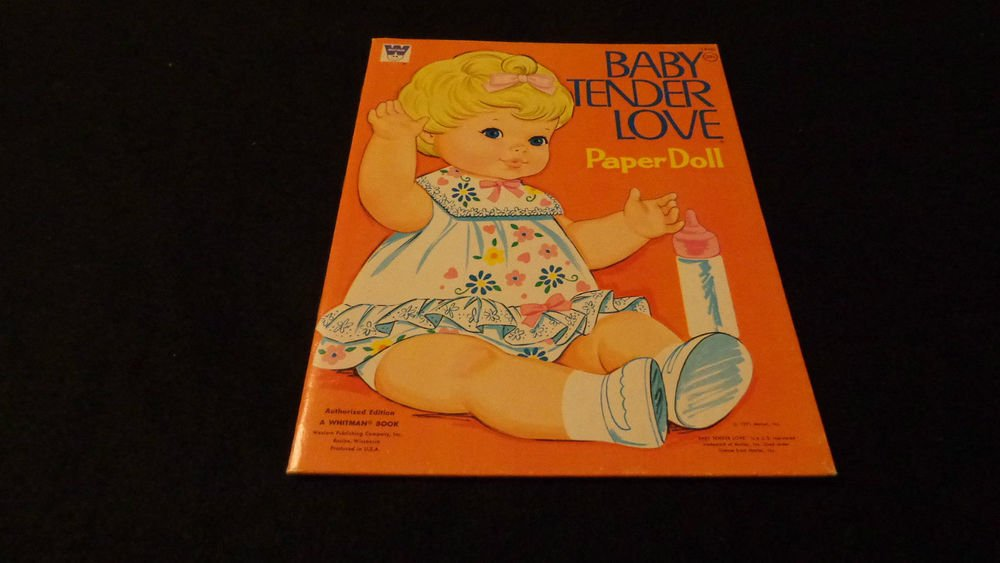 Whitman Uncut Paper Dolls   Baby Tender Love  Published 1971   Almost Mind
