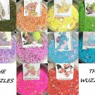 Set of 10 Wuzzle1/2 tsp Glitter Mix Fine Chunky Nail Art Acrylic UV Gel Nail Polish