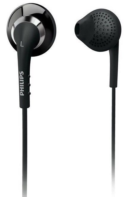 Philips cushioned head phones with carrying case and Volume control