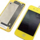 iphone 4 Compatible yellow lcd screen touch digitizer + back cover housing kit