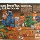 70s Knickerbocker SESAME STREET Toys Muppet Character Ad Pgs~Big Bird Bert Ernie