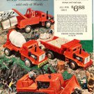 1960s Vintage Road Construction Trucks & Other Battery Operated Toys Print Ad Pg