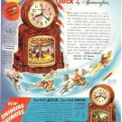 50s Mastercrafters Merry-Go-Round Etc Action/Motion CLOCKS Ad~Nice Go-Along!!!