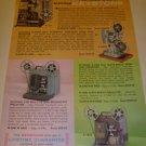 60s Vintage Keystone Movie Projectors and Cameras Catalog Ad Page/Advertisement