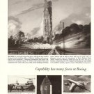 60s Vintage Boeing 727 Airline ad~ NASA Program Saturn V Rocket Lunar Orbit Lab