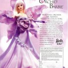 The Flowers in Fashion Mattel Orchid Barbie Doll #50319 Ad Page Only~No Doll