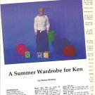 Pattern/Instructions to Crochet Summer Wardrobe for Mattel Ken Etc Doll
