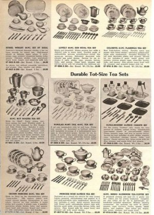 50s Toy Tea Sets Catalog Ad~Russel Wright,Roy Rogers,Crown Princess,Pony Tail+