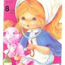 Nurse w/Stethescope/Teddy Bear Vintage Birthday Greeting Card for 8 Year Old