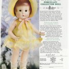 2001 Effanbee Patsy Porcelain Collector Doll Ad Page