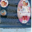 2001 Effanbee 25th Anniversary Patsy & Wee Doll Ad