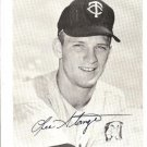 Lee Stange 4 x 5 Autograph Photo~Minnesota/MN Pitcher~Twins Baseball Team Issue