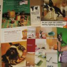 Lot of 7 Different Ads/Advertisements featuring Cute BOSTON TERRIER Dog in Ad