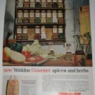1961 Watkins Gourmet Spices & Herbs Products Ad~Special Cutting Board Offer~60s