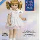 Mattel Chatty Cathy Porcelain Collector Repro Doll Ad