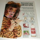 1986 Karo Syrup Face Paint Recipe Ad~Tiger,Devil,Clown