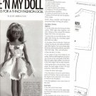 "Magazine Pattern/Instructions to Sew Dress for 9""/Inch Skipper Etc Fashion Doll"