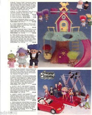 1992 Treasure Trolls & Access/Swans Crossing Dolls Ad