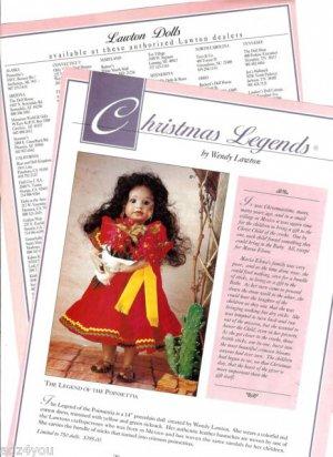 1992 Wendy Lawton Legend of Poinsettia Maria Elena Christmas Legends Doll Ad Pg