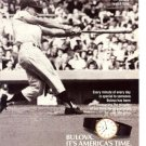 1987 Vintage Print Ad~Roger Maris 1961 #61 Homerun/Home Run Bulova Watch Time