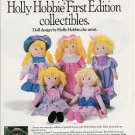 1990 Introducing New Holly Hobbie First Edition Collectibles Doll Ad