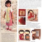 Japanese Wooden Kokeshi Dolls Magazine Ad Clipping~Bride,Children,Fishing Boy