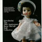 1986  Betsy McCall 35th Anniversary Doll Ad~Soooo Cute!