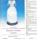 Pattern/Instructions to Crochet Prom Gown for Barbie Etc 11-1/2&quot; Fashion Doll