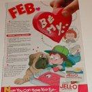 1992 JELL-O Jigglers Valentine Recipe Ad~St.Bernard Dog