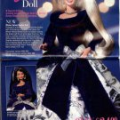 1996 Avon Catalog Cover Page plus Winter Velvet Barbie Doll (2-Pg) Ad~Nice!!!