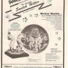 1989 Ad/Advertisement for Mickey Mantle Collector Plate,Figurine Souvenirs