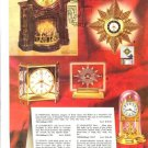 1957 Mastercrafters Fireplace Motion/Action Clock Catalog Ad Page/Advertisement