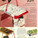 1973 NHL Pro-Stars Hockey,Soccer Table Games Catalog Ad Page~Great Go-Along! 70s