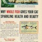 1954 Puss'N Boots Ad/Chandoha Siamese Cats Photo Art Ad