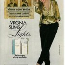 1982 Virginia Slims Cigarette Ad~Frank Composto Fashion