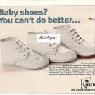 1983 Kinney Shoe Store Baby/Infant First Steps Shoes Ad