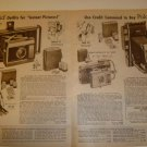 1962 Vintage Ad Pages for Polaroid Electric Eye Land Cameras~J66~110B~J33~900