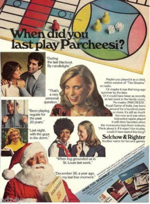 1979 Selchow&Righter Board Games Ad~Scrabble,Parcheesi