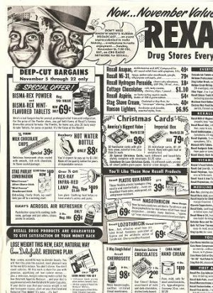 1952 Black Amos N Andy Radio Celebrities Rexall Drug Ad