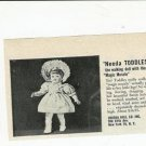 1950s Vintage Uneeda Walking TODDLES Baby Doll Ad
