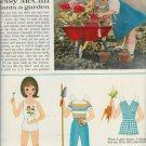 1962 Betsy McCall Plants A Garden Vintage Uncut Magazine Paper Doll Page~1960s