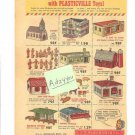 1950s Woolworth PLASTICVILLE Plastic Toys/Kits Ad Copy~50's