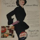 1953 Vintage Pepsi-Cola Ad~Refreshes without filling