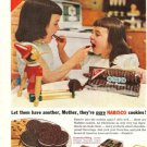 1953 Nabisco Cookies Ad~Wood/Wooden Pinocchio Doll pictured with 2 young girls