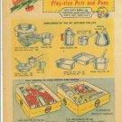 1950s KiddyKook Children's Aluminum Cookware Toys Ad