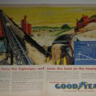 1950s GoodYear Industrial Products Ad~Concrete Maker