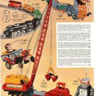 1960s Bubbling Dragon,Nutty Mad Car,Space Man Robot,Marx Super Crane Toy Ad Page