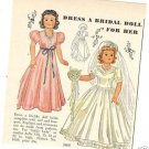 1949 Little Lady Bride etc Doll Pattern Ad/Advertisemnt